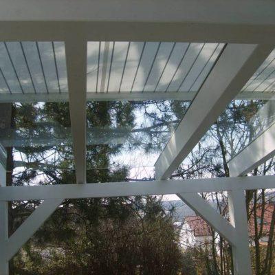 Kaltdach mit Wintergartenmarkise  und Verglasung